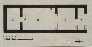 Ricostruzione della planimetria del Tempio.
