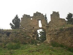 Particolare dei ruderi del castello.