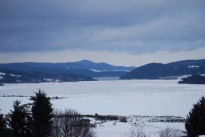Il Lago Arvo innevato