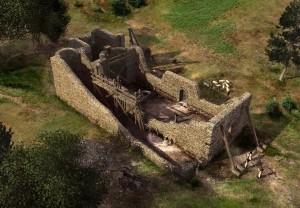 Una ricostruzione 3d dell'antico cenobio.