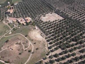 Parte dei resti di Scolacium visti dall'alto