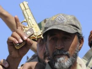 gheddafi gold gun