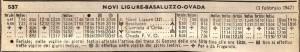 orario 1947 ferrovia novi ovada