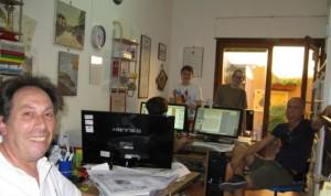 Il geometra Umberto Cecchetto e la redazione