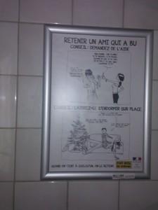Fumetto nei bagni universitari
