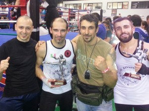Da sinistra: Junior Casiddu, Gabriele Palermo, Walter Giraudo e Davide Ivaldi.