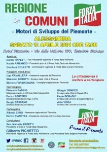 Locandina evento Regioni e Comuni, motori di sviluppo del Piemonte 12.04.14