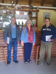 Da sinistra a destra: il Presidente della  Pro Loco Riccardo Zunino, Diana Goldchmied e Franco Facino