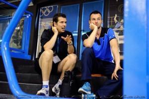 Il nuovo allenatore Henri Vervoort assieme al tecnico della Nazionale Giovanile Fabio Morino al PalaBadminton