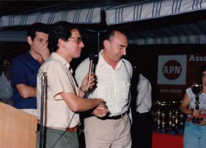 Il sindaco di Novi Ligure Armando Pagella con GB Cassulo durante una premiazione