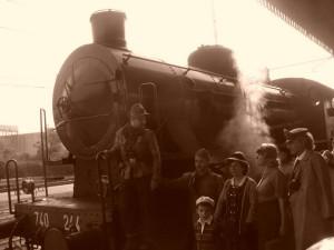 La locomotiva va in deposito pronta per un altro viaggio