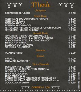 Sagra del Porcino_il menu