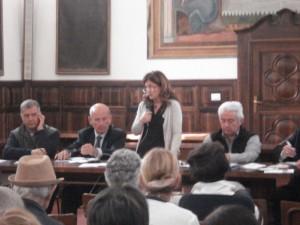 La relatrice Daniela Piazzon