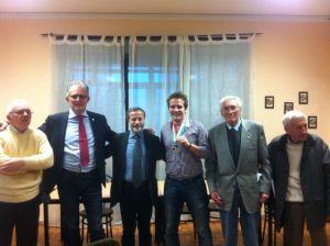 Il sindaco Muliere e il direttivo dell Unvs a premiare Oliveri