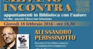 """A """"Silvano incontra"""" lo scrittore Alessandro Perissinotto"""