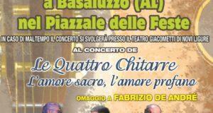 Le Quattro Chitarre in concerto a Basaluzzo