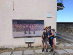 Stefano Sereni e Elena Pavan a Volpedo, lungo la via Postumia