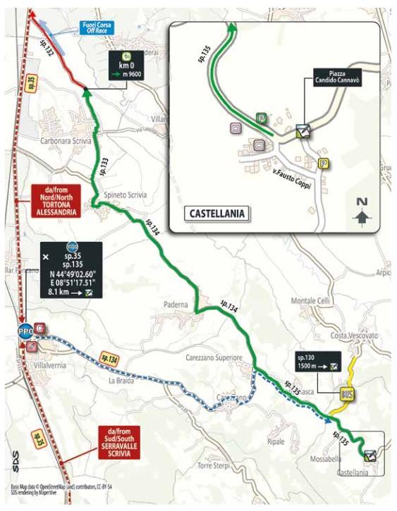 quattordicesima La partenza da Castellania della Tappa 14 del Giro d'Italia