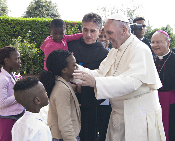 Papa FrancescoI e Padre Vittorio Viola ad Assisi