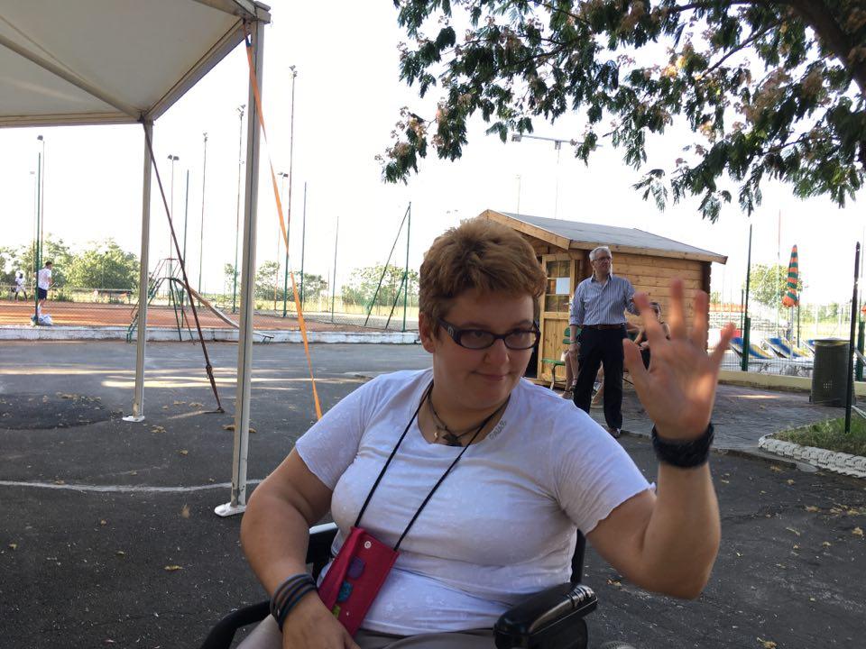 Luisella Reginato al centro sportivo di Torre Garofoli
