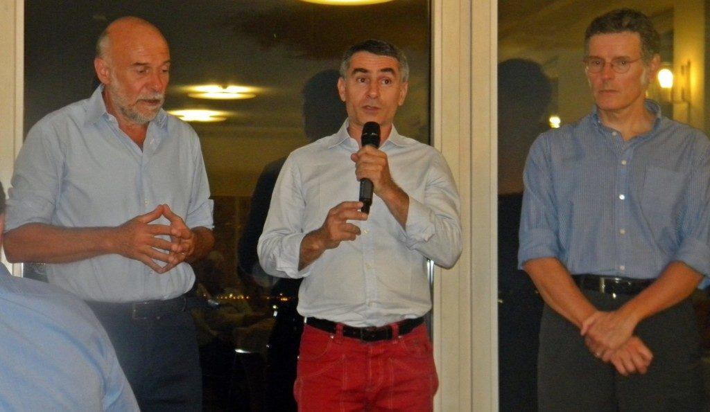 Sergio Vallenzona, Giovanni Maria ferraris, Pietro cordelli alla cena dei campioni di Castellania