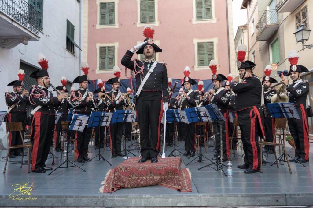 La Fanfara del 3° Carabinieri Lombardia a Cabella Ligure