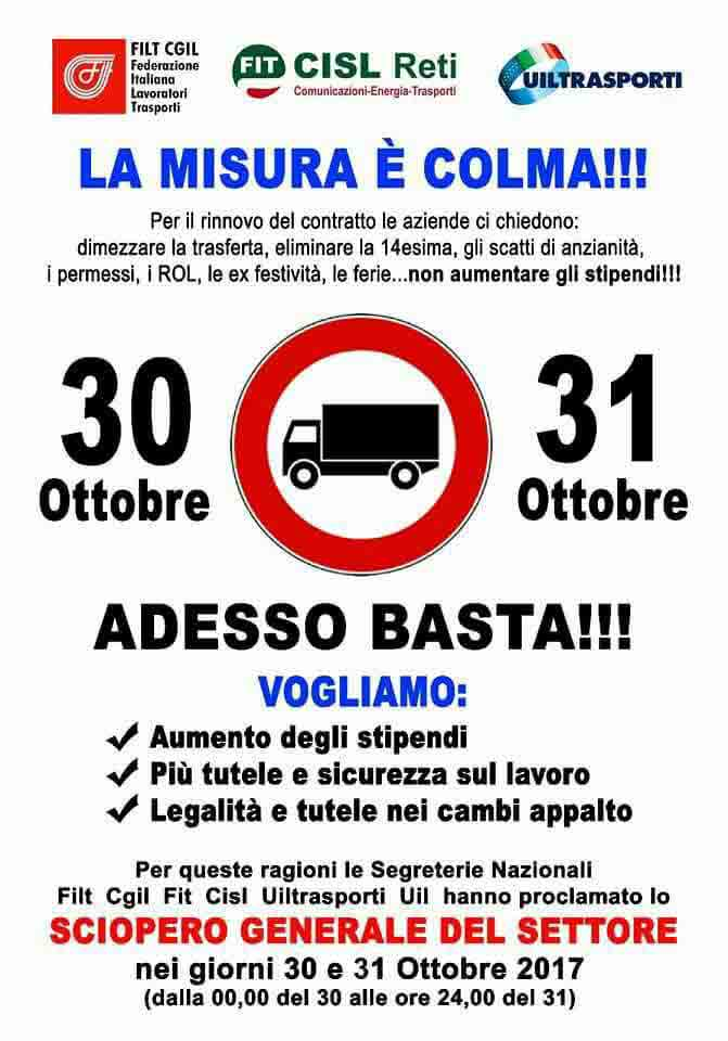 Sciopero nazionale trasporti e logistica, senza tutele e diritti non è lavoro!