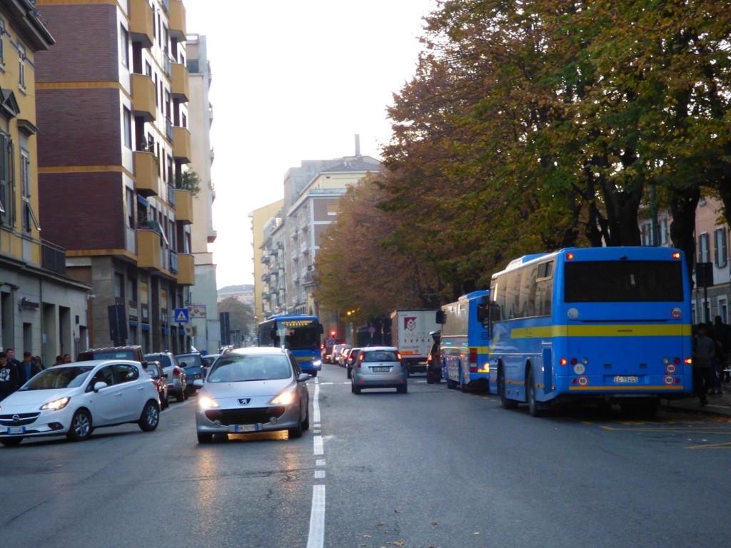 Novi Ligure, traffico caotico in Corso Marenco