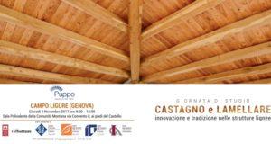 Castagno e lamellare, una giornata di studio a Campo Ligure