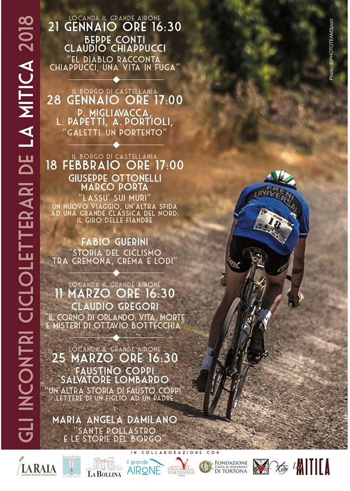 Programma quinta edizione degli incontri cicloletterari de la mitica