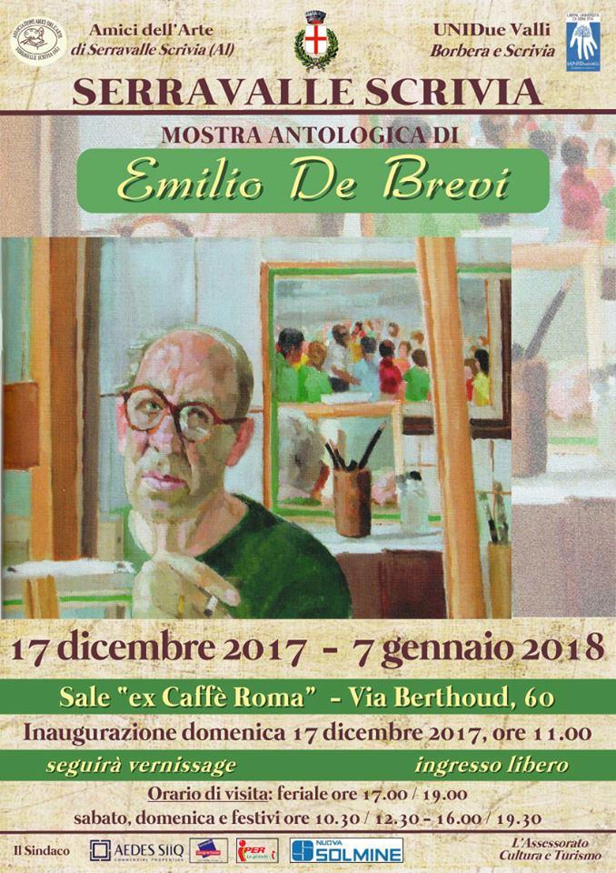 Serravalle Scrivia, mostra antologica di Emilio De Brevi