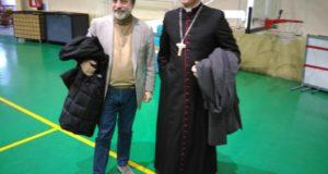La visita del Vescovo al Palasport di Novi Ligure