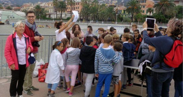 Varazze, la visita degli alunni della scuola di Roussillon