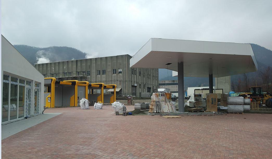 Campo Ligure: quasi pronta la nuova stazione di servizio