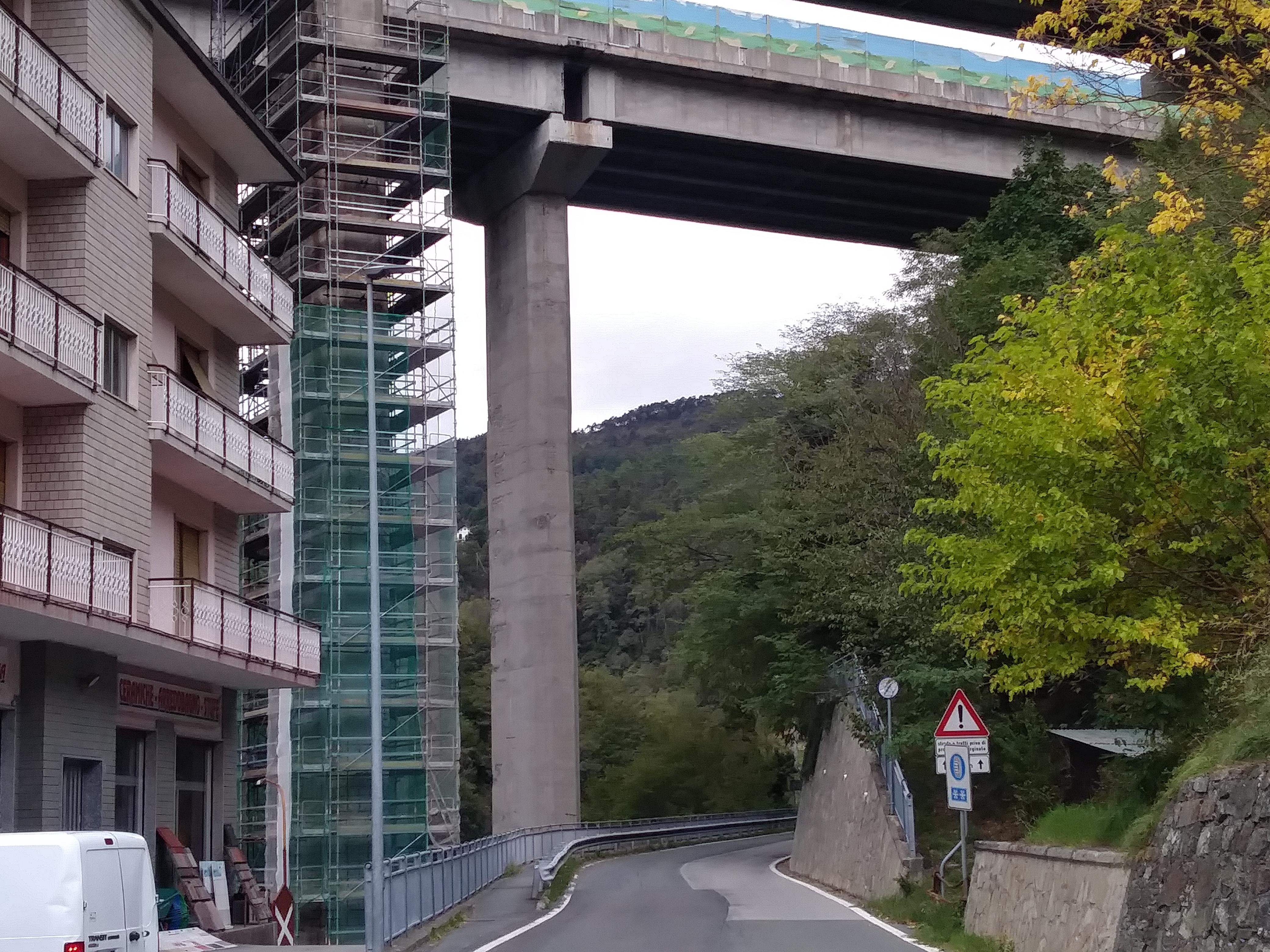 Riparazione pila viadotto sul Gargassa