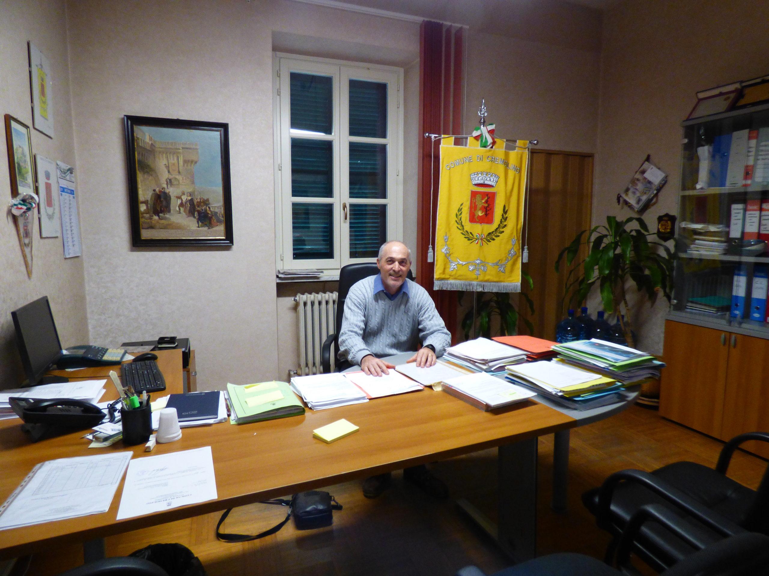 Il sindaco di Cremolino Massimo Giacobbe